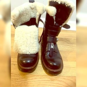 Coach Insulated Combat Boots
